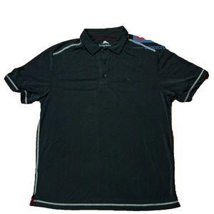 Tommy Bahama Polo Golf Shirt Black Modal Medium M